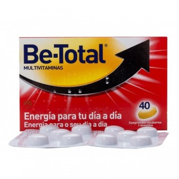 BE-TOTAL Multivitaminas energía 40 comp