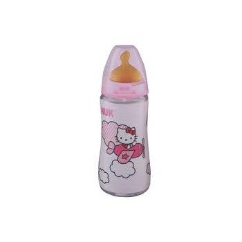 NUK Biberón Hello Kitty boca ancha T/2 L 300 ml