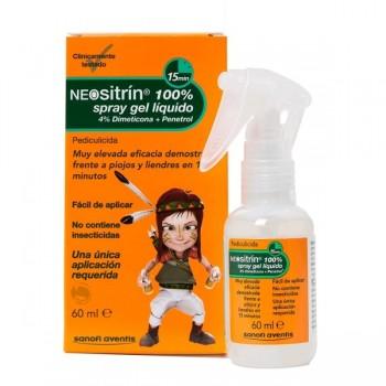 NEOSITRIN 100% Antipiojos spray gel líquido 100 ml