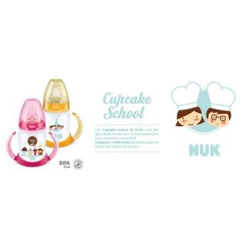 NUK Biberón Cupcake entrena silicona 150ml 6m+