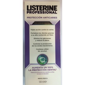LISTERINE Professional Anticaries sin alcohol 500ml
