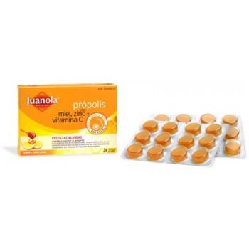 JUANOLA Própolis miel zinc+vitamina C sabor limón pastilla blanda 24 uds