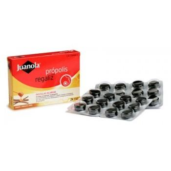 JUANOLA Própolis con regaliz pastilla blanda 24 uds