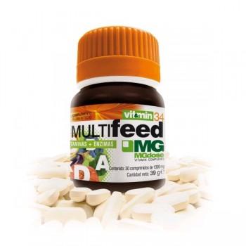 MG MEGADOSE Multifeed Vitaminas + Enzimas 30comp