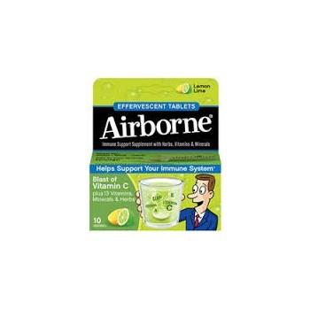AIRBORNE Inmunodefensas Sabor Lima Limón 10comp Efervescentes