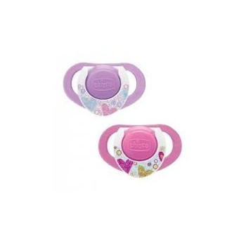 CHICCO Chupete Compact Caucho 12m Rosa 2uds