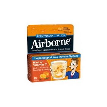 AIRBORNE Inmunodefensas Sabor Naranja 10comp Efervescentes