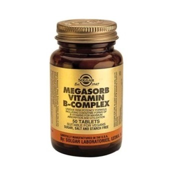 SOLGAR Megasorb Vitamina B-Complex 50 comprimidos