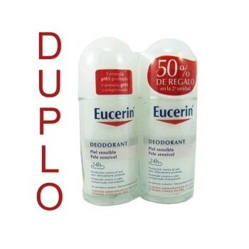 EUCERIN Desodorante roll on 50ml DUPLO