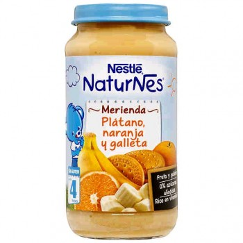 NATURNES Plátano, Naranja y Galleta 250g