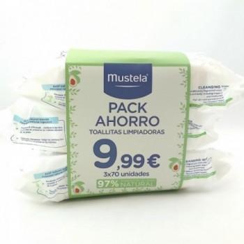 MUSTELA Toallitas pack 3...